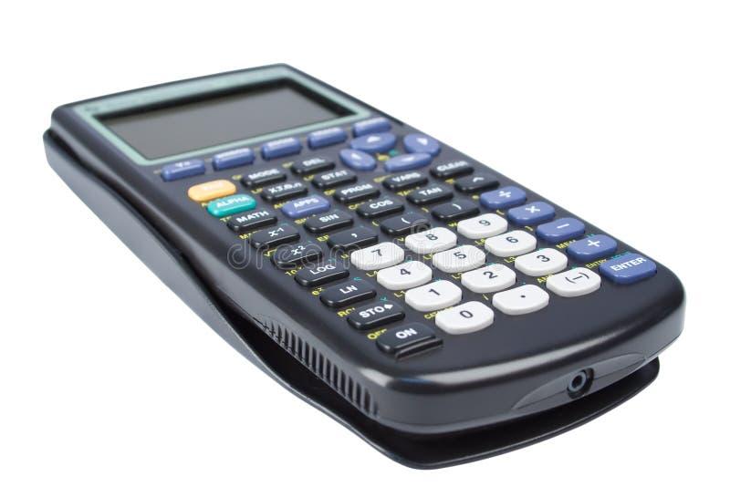 Calculator. Scientific calculator isolated on white stock image