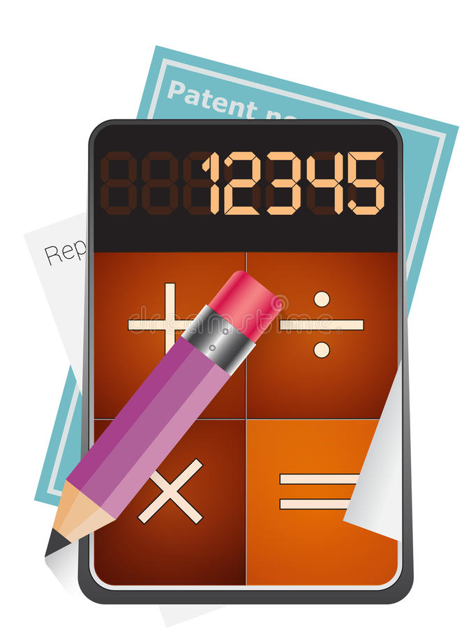 Calculator royalty-vrije illustratie