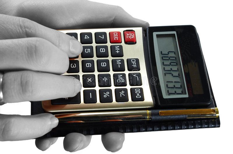 Download Calculator stock image. Image of backgrounds, hand, calculations - 7665977
