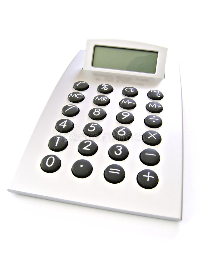 Calculator With Blank Screen stock photo