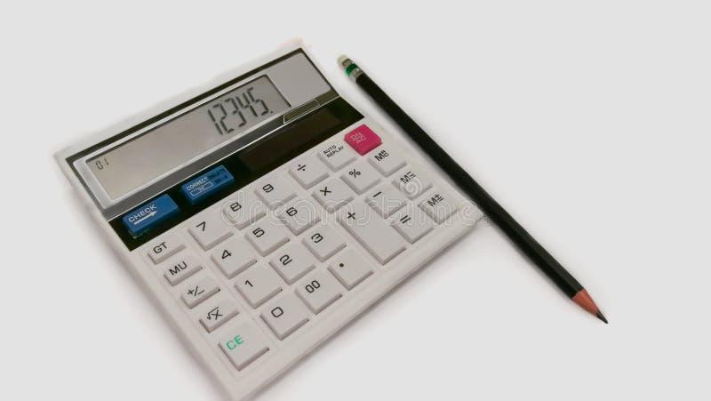 Calculator, Bureau, Achtergronden, Witte Achtergrond, Saldo stock foto