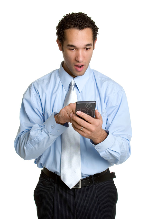 Calculator Businessman. Isolated handsome businessman holding calculator stock images