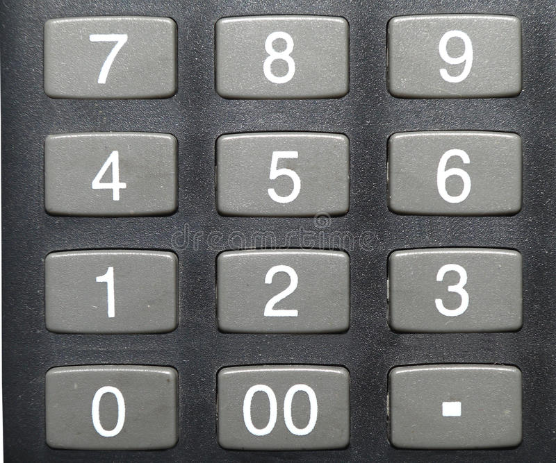 Calculator buttons stock image