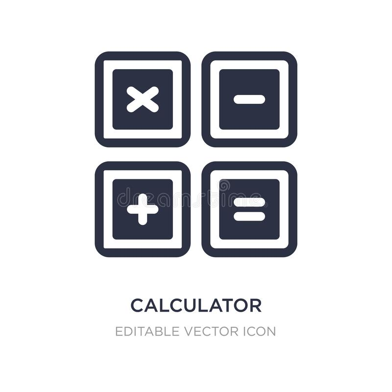 calculator buttons interface icon on white background. Simple element illustration from Education concept stock illustration