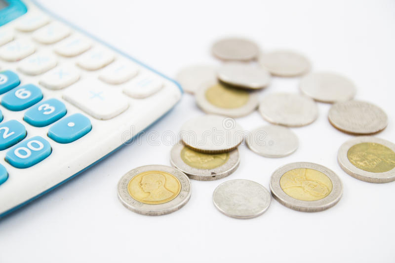 Download Calculator and coin stock image. Image of credit, calculator - 26464451