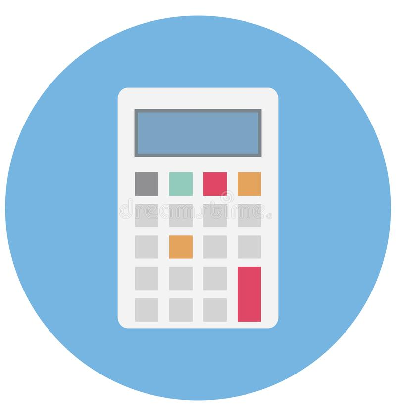 Calculator Color Icon Isolated And Vector That Can Be