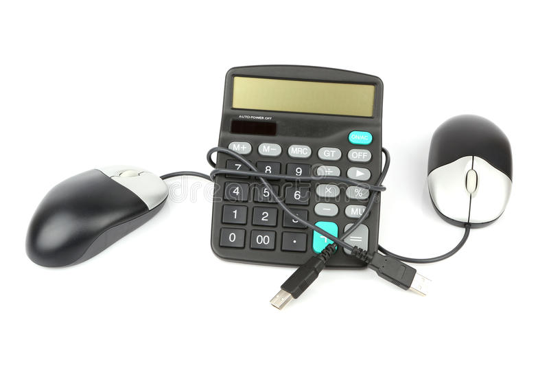 Download Calculator And Computer Mouse Stock Image - Image: 27545239