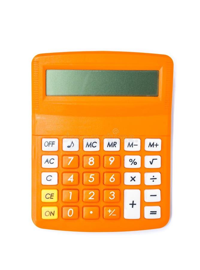 Calculator die op wit wordt geïsoleerdd stock fotografie