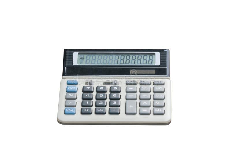 Calculator die op witte achtergrond wordt geïsoleerdm royalty-vrije stock afbeeldingen
