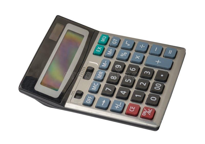 Calculator die op witte achtergrond wordt ge?soleerdm royalty-vrije stock foto's