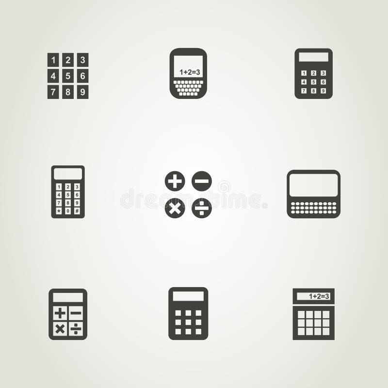 Calculator een pictogram vector illustratie