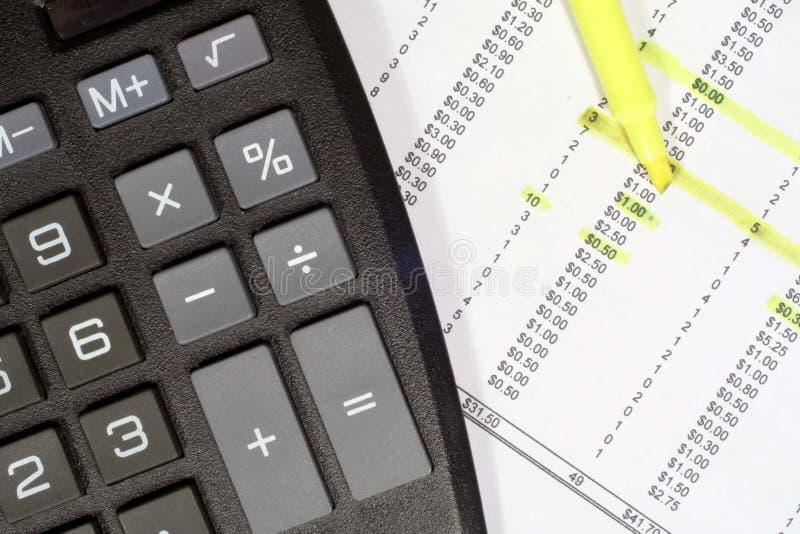 Calculator And Financial Data Stock Photos