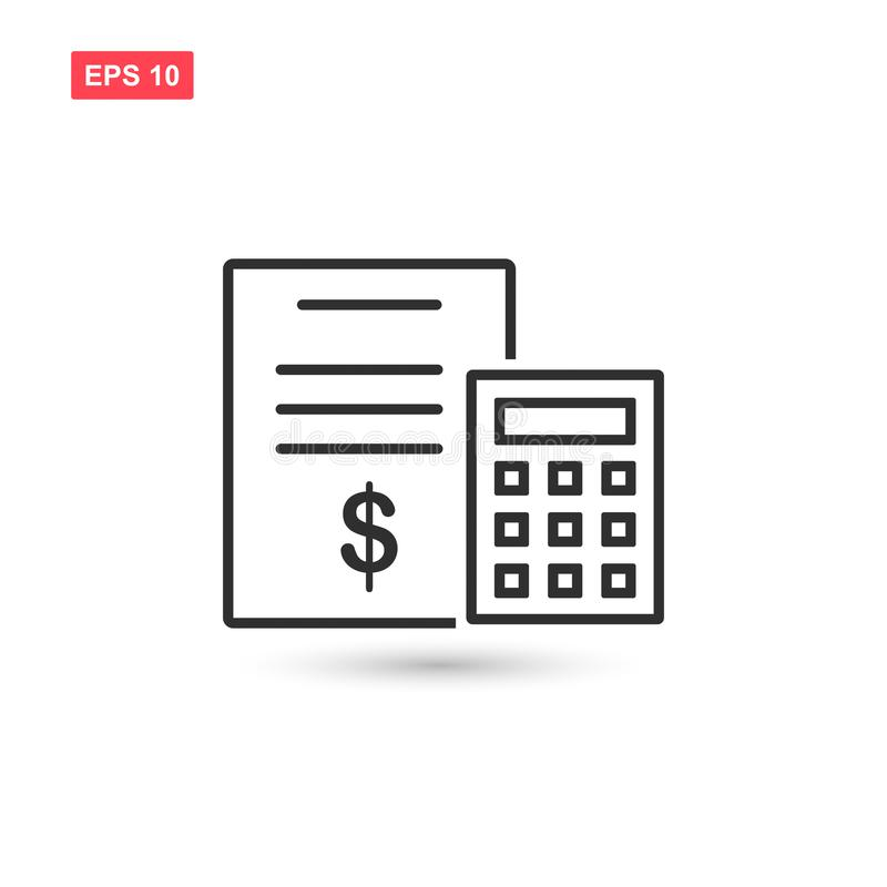 Calculator financial document vector icon design isolated. Eps10 royalty free illustration