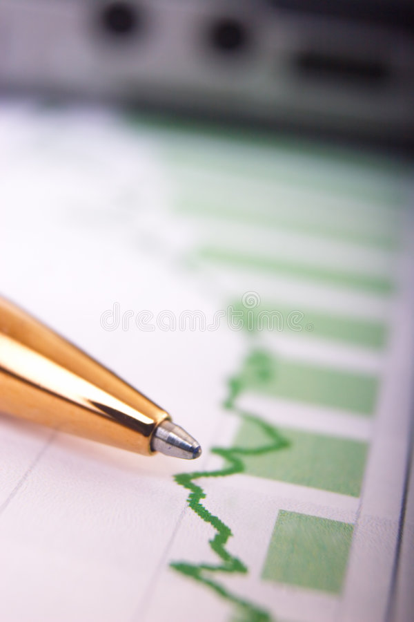 Download Calculator On Financial Report Stock Image - Image: 5327105