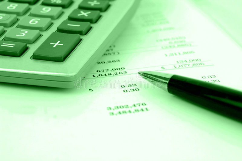 Download Calculator On Financial Statement Stock Image - Image: 5319009