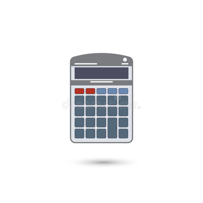 Calculator Flat Icon. Isolated on White Background. Vector Illustration royalty free illustration