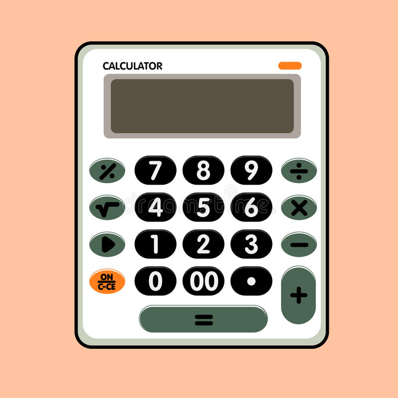 Calculator grappige vector stock illustratie
