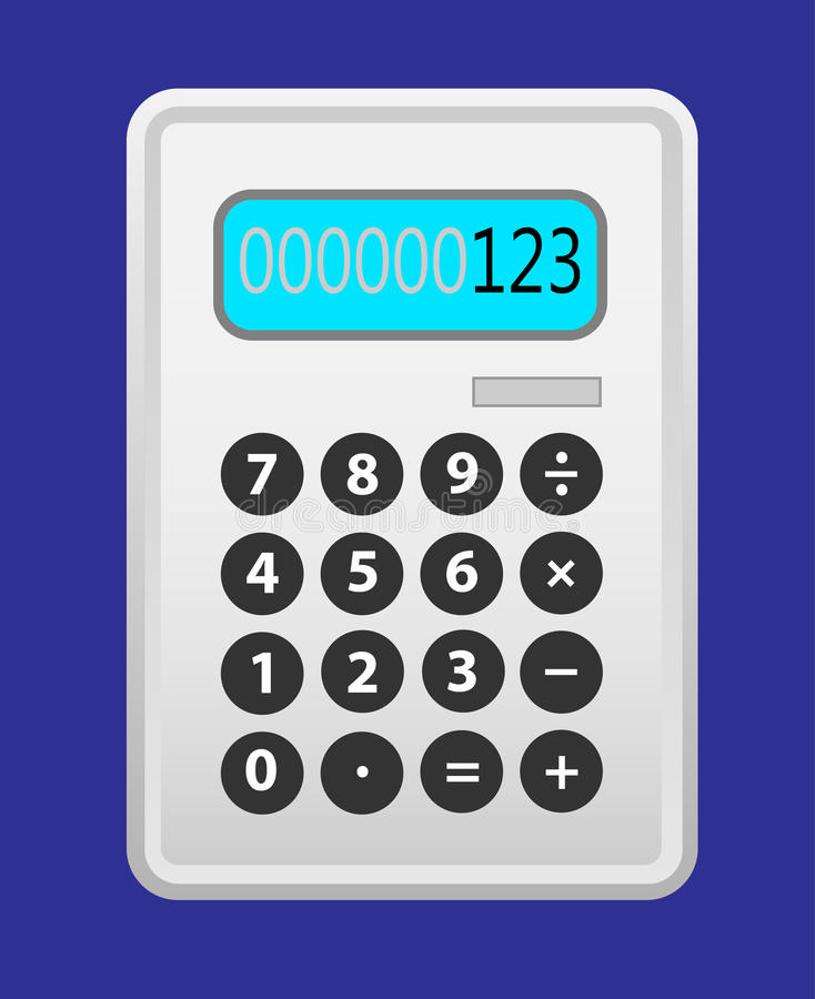 Download Calculator grey. stock vector. Image of blue, display - 28707425
