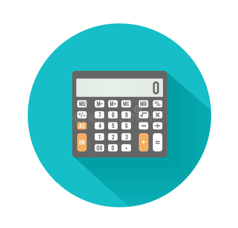 Calculator icon. Business concept with mathematics. Symbols vector illustration