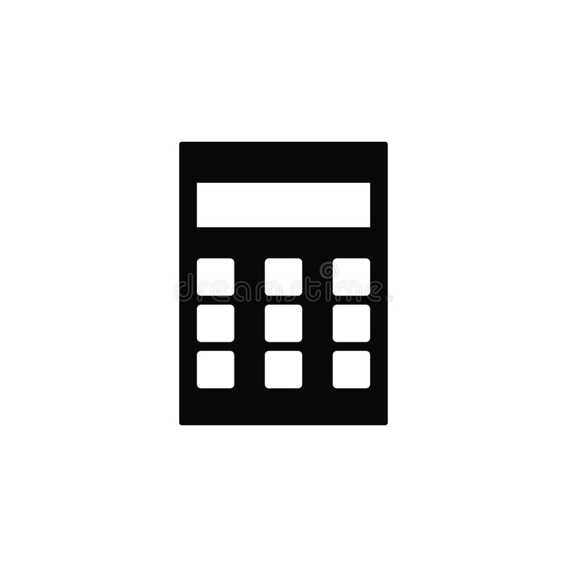 Calculator, icon. Element of simple icon for websites, web design, mobile app, infographics. Thick line icon for website design royalty free illustration