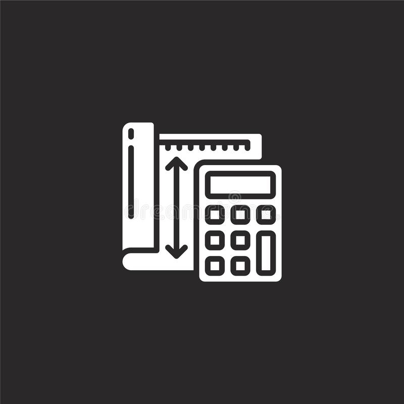 calculator icon. Filled calculator icon for website design and mobile, app development. calculator icon from filled manufacturing royalty free illustration