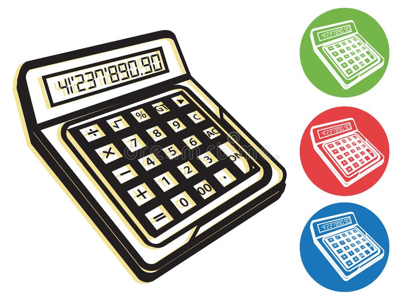 Calculator Icon - Illustration. As EPS 10 File royalty free stock image