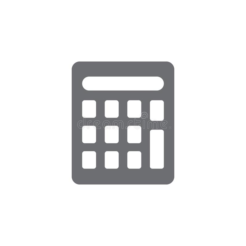 calculator icon. Simple element illustration. calculator symbol design template. Can be used for web and mobile vector illustration