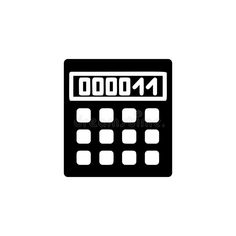Calculator icon. Simple glyph, flat vector of Web icons for UI and UX, website or mobile application royalty free illustration