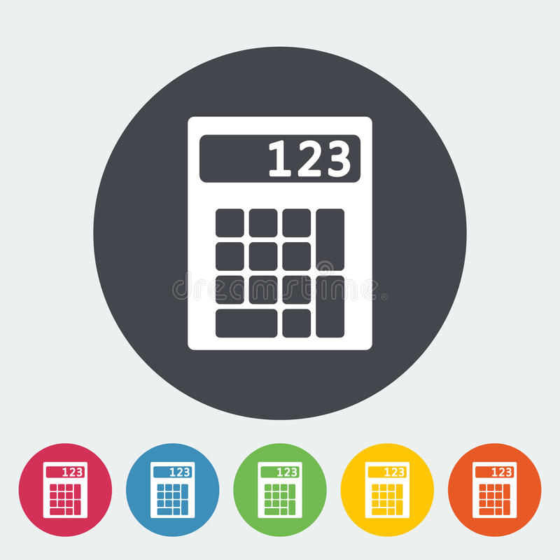 Calculator icon. Calculator. Single flat icon on the circle. Vector illustration vector illustration