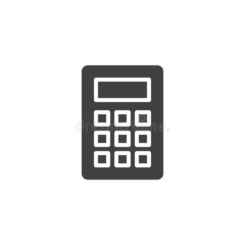 Calculator icon vector. Filled flat sign, solid pictogram isolated on white. Symbol, logo illustration vector illustration