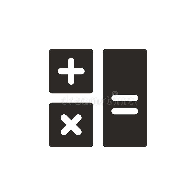 Calculator icon - Vector. Simple element illustration from UI concept. Calculator icon - Vector. Infographic concept vector stock illustration