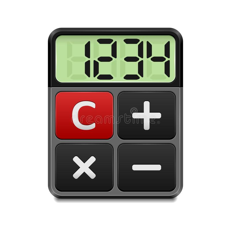 Calculator icon. On white background vector illustration