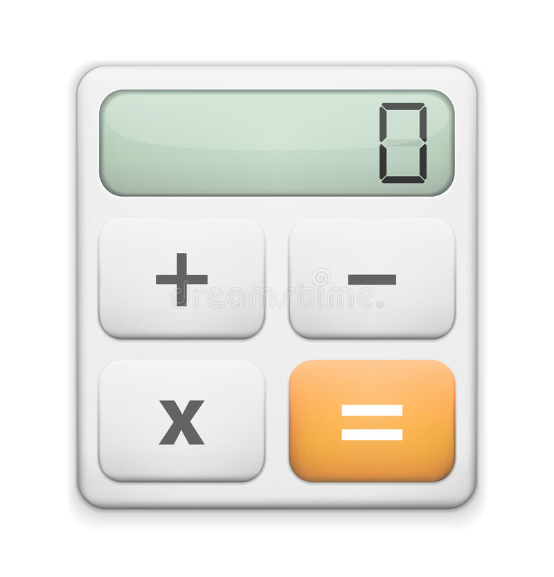 Calculator Icon. On a white background stock illustration