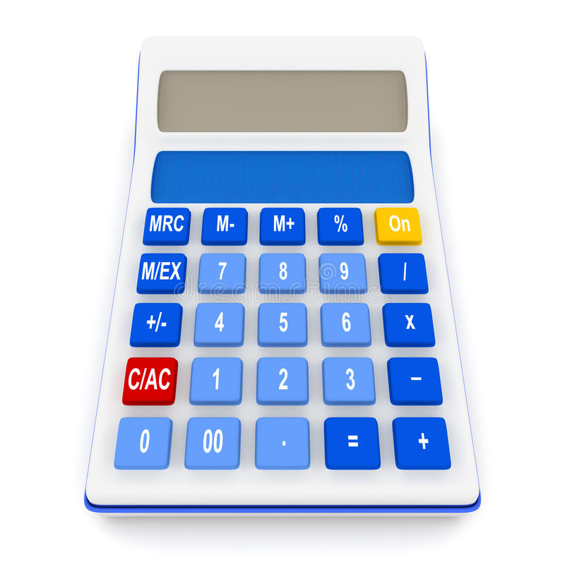 Download Calculator Isolated On White Stock Illustration - Image: 10585714