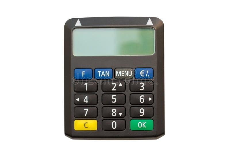 Calculator isolated on white background. Image of calculator isolated on white background royalty free stock photo