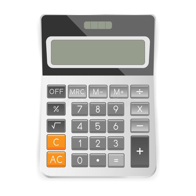 Calculator isolated on white background. Vector illustration vector illustration