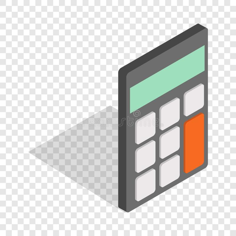 Calculator isometric icon. 3d on a transparent background vector illustration stock illustration