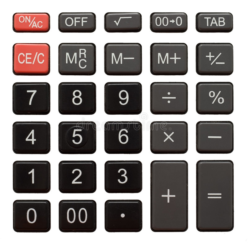 Free Calculator Keypad Stock Image - 7800331