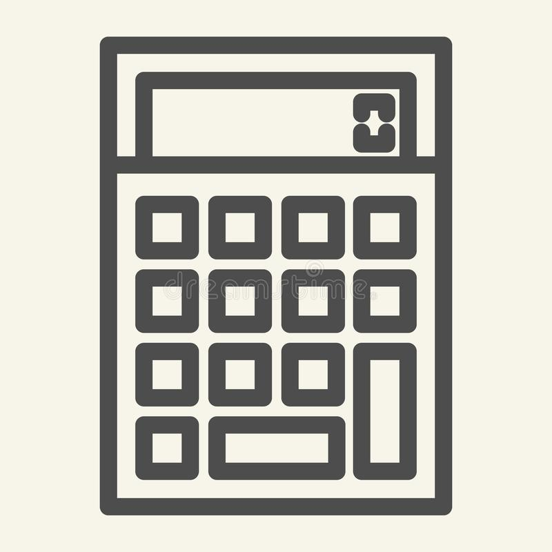 Calculator line icon. Accounting vector illustration isolated on white. Calculate outline style design, designed for web. And app. Eps 10 royalty free illustration