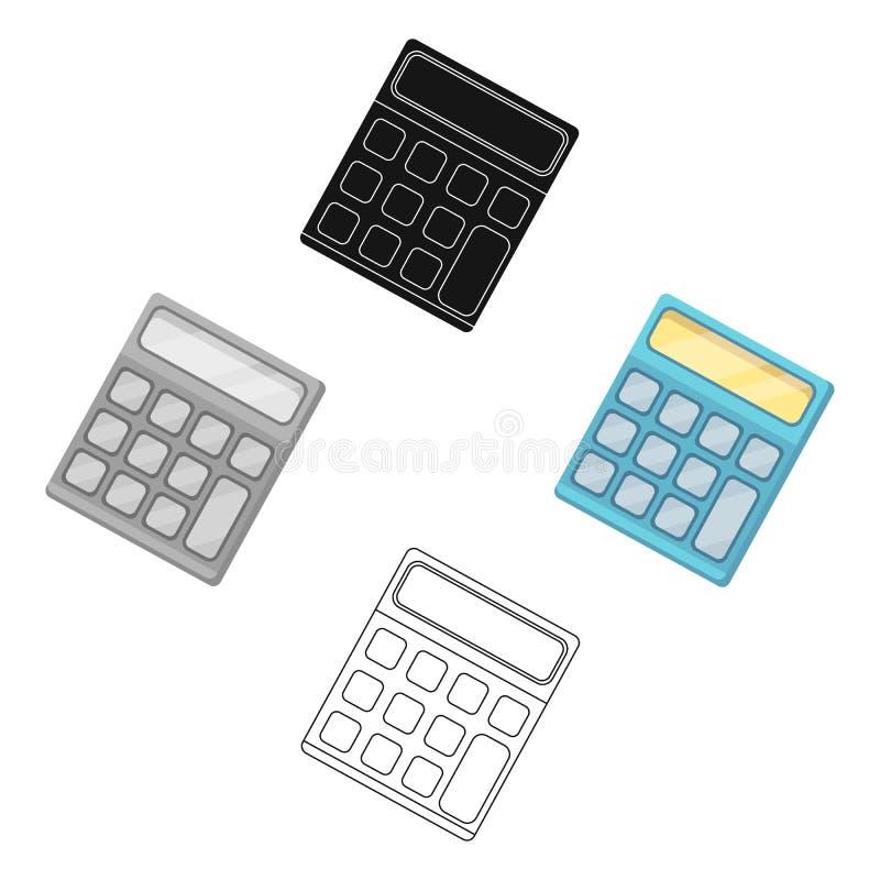 Calculator Machine gegevens snel om te tellen math School en Onderwijs enig pictogram in beeldverhaal, zwart stijl vectorsymbool royalty-vrije illustratie