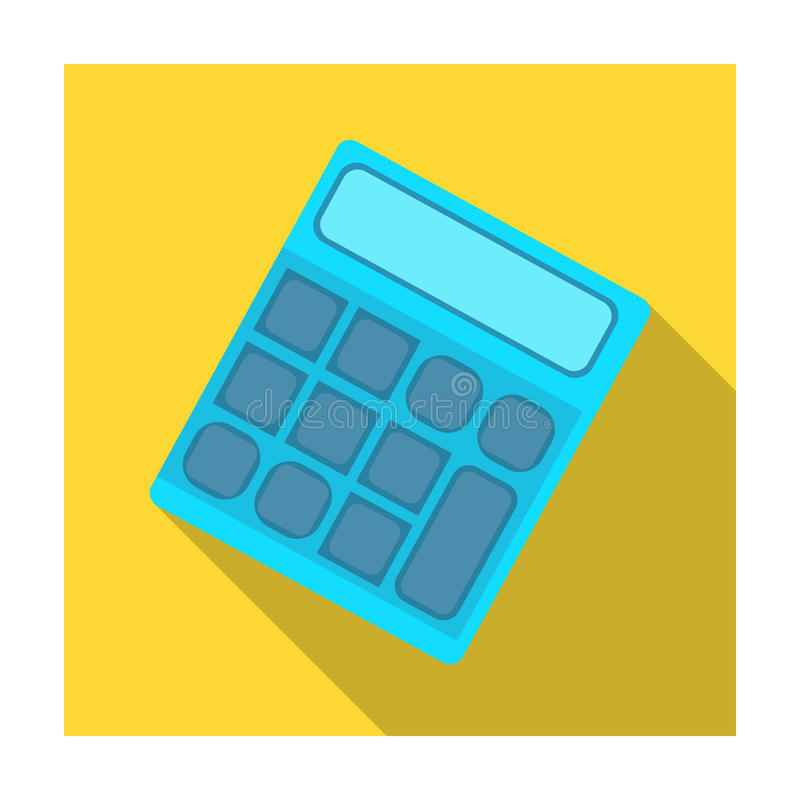 Calculator Machine gegevens snel om te tellen math School en Onderwijs enig pictogram in de vlakke voorraad van het stijl vectors stock illustratie