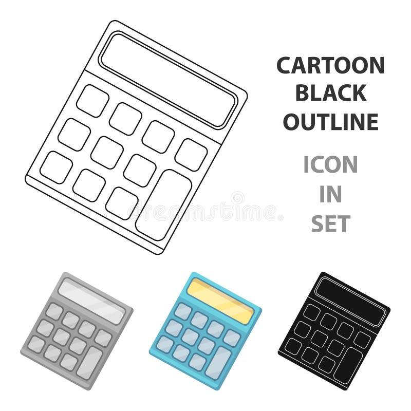 Calculator Machine gegevens snel om te tellen math School en Onderwijs enig pictogram in vector het symboolvoorraad van de beeldv vector illustratie