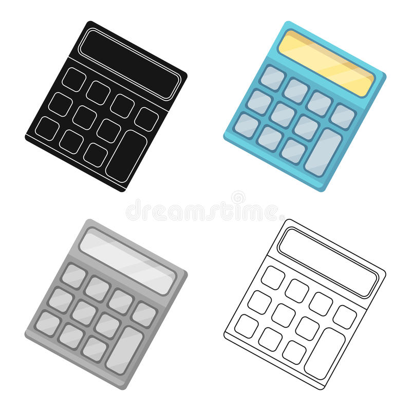 Calculator. Machine to quickly count data. Math .School And Education single icon in cartoon style vector symbol stock vector illustration