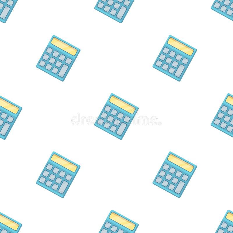 Calculator. Machine to quickly count data. vector illustration