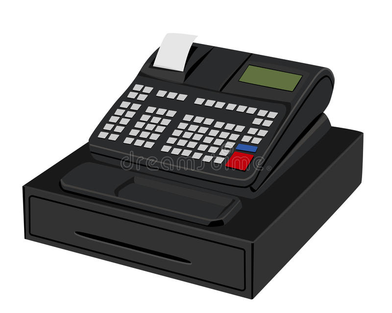 Calculator machine vector illustration