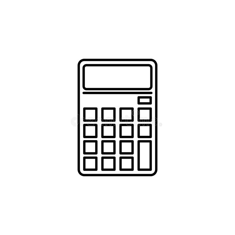 Calculator, math icon. Element of education illustration. Signs and symbols can be used for web, logo, mobile app, UI, UX vector illustration