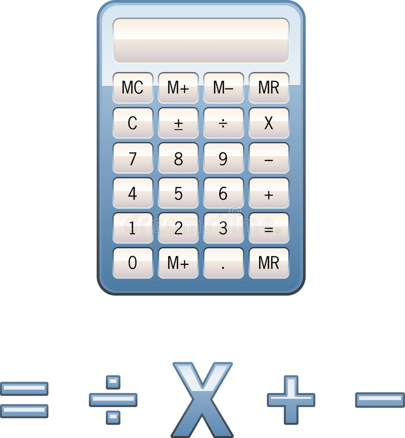 Calculator math symbols stock illustration. Illustration of ...