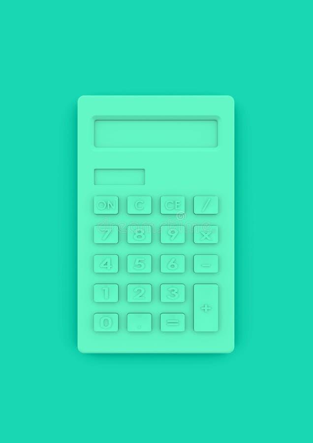 Calculator in minimalistische stijl als concept voor bedrijfsaccountin royalty-vrije stock afbeeldingen