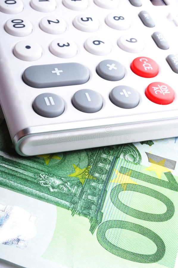 Download Calculator and money stock photo. Image of coins, accounting - 16461672