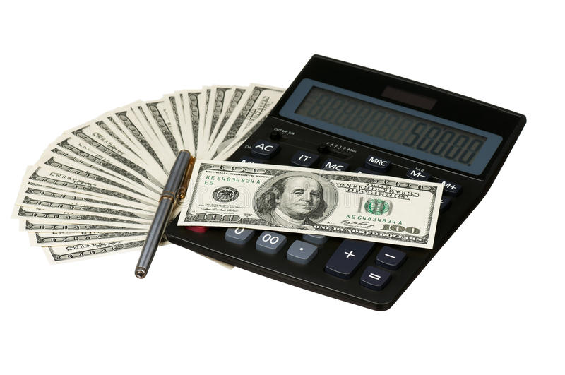 Download Calculator and money stock photo. Image of economy, cash - 27008180